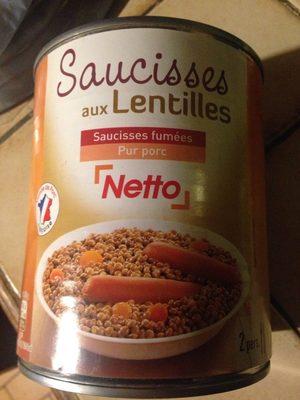 Saucisses Aux Lentilles 840g - Produit - fr