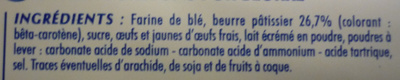 Palets Bretons 100% Pur beurre - Ingredients