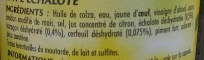 Sauce Béarnaise - Ingrédients