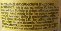 Bout.or Sauce Tartare PT - Ingrédients - fr
