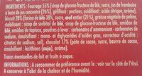 Génoises fourrées framboise - Ingrediënten