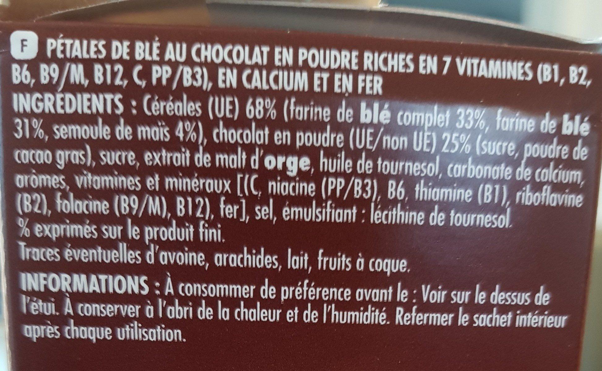 Petal' Choco - Ingredients