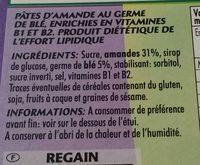 Barres Amande - Ingrediënten