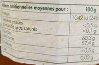 Confiture extra d'abricots - Informations nutritionnelles - fr