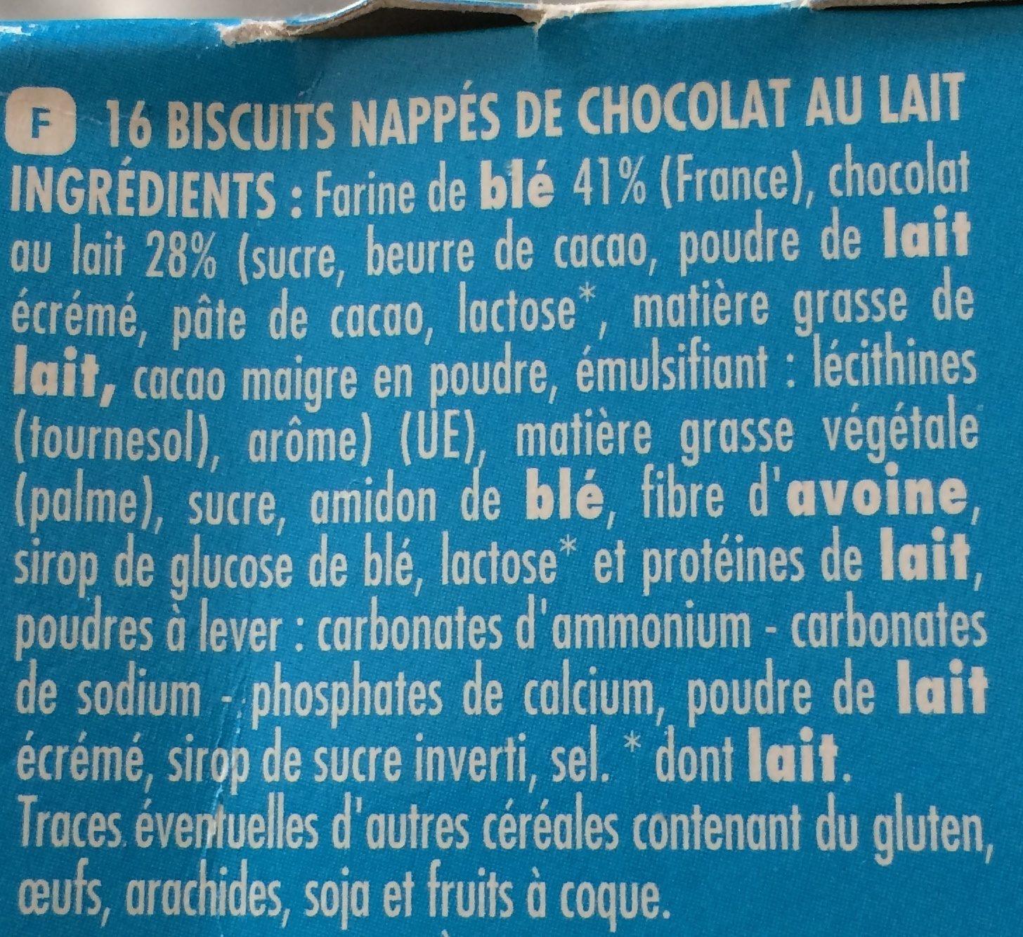 Chabrior Turbulo Chocolat au lait - Ingrediënten - fr