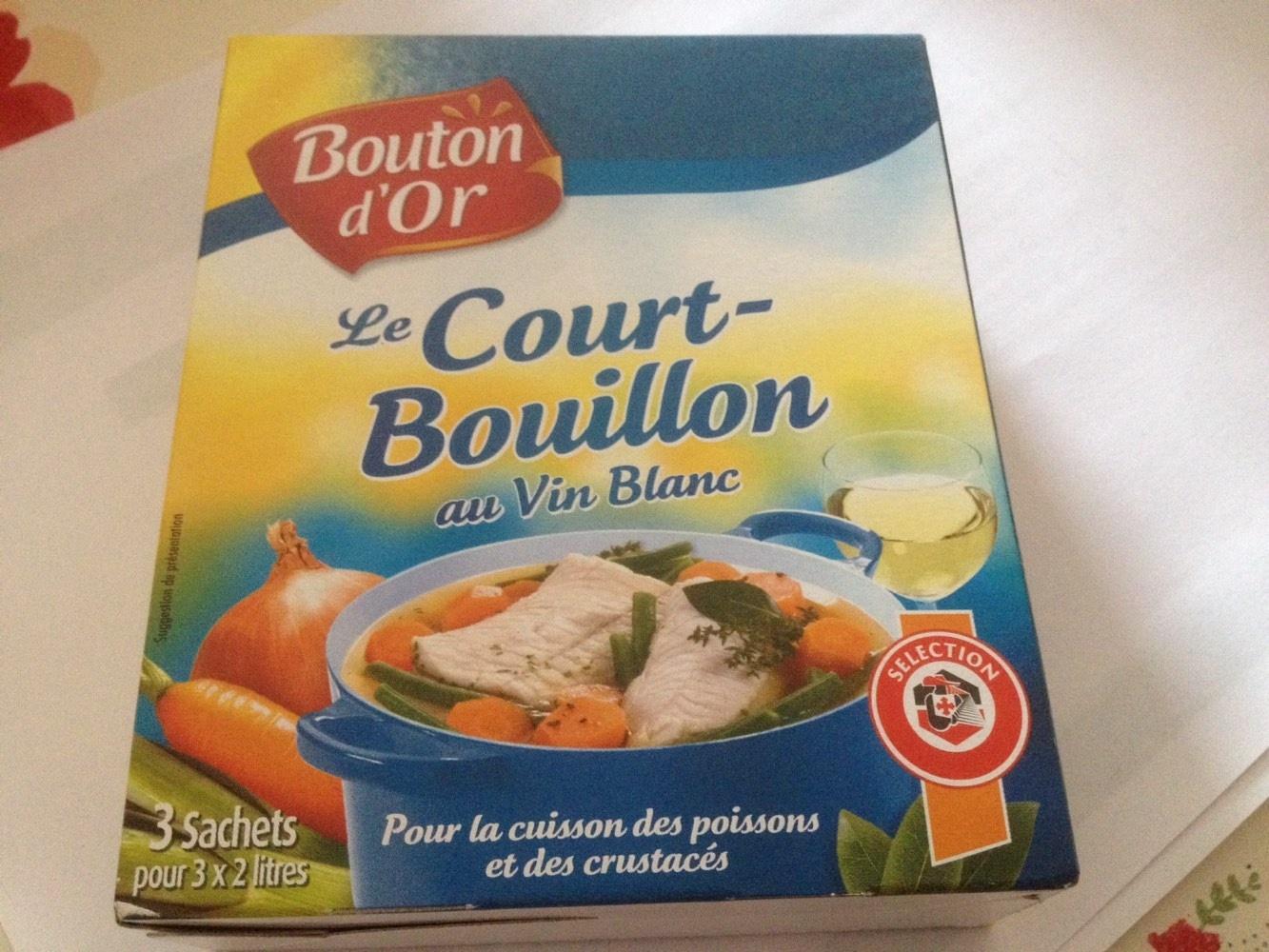 Court bouillon au vin blanc bouton d 39 or 126 g - Court bouillon poisson maison ...