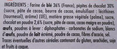 Cookies Choco Pepit' - Ingredients