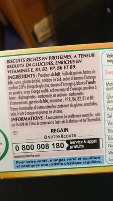 Biscuits riches en protéines - Ingredients