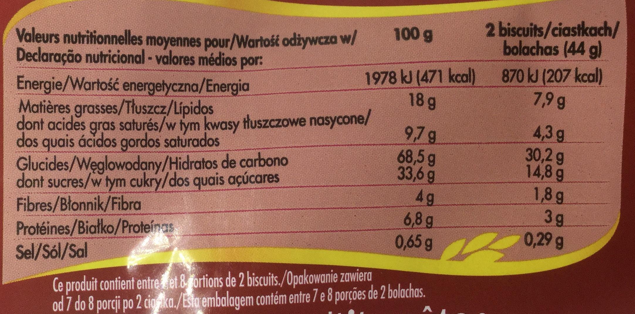 Goûter Crok parfum tout chocolat - Wartości odżywcze