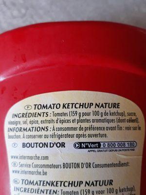 Ketchup nature - Ingrédients - fr