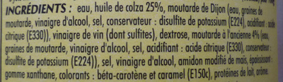 Vinaigrette à la Moutarde à l'ancienne (25,8 % MG) - Ingredients - fr