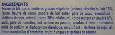 Kassoa pocket chocolat au lait - Ingrediënten - fr