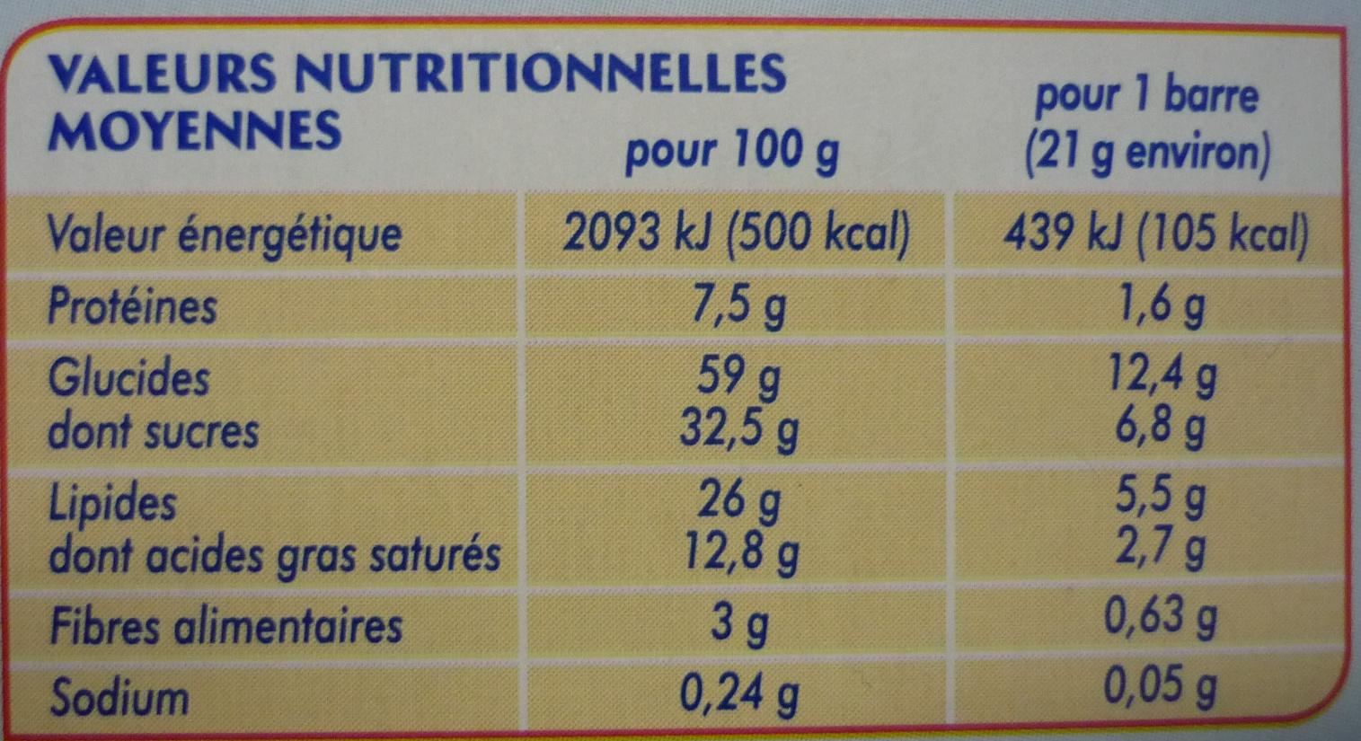 Kassoa pocket chocolat au lait - Voedingswaarden - fr