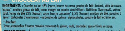 Tableau d'honneur chocolat au lait - Ingrediënten - fr