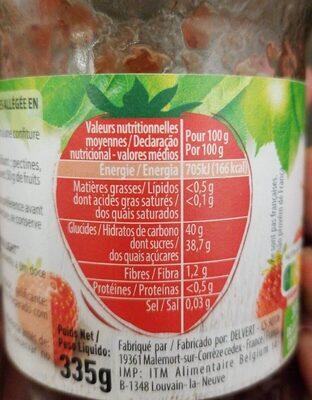 Confiture allégée fraise - Nutrition facts - fr