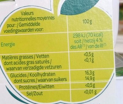 Paquito Pom Banan SSUCRE4 - Nutrition facts - fr