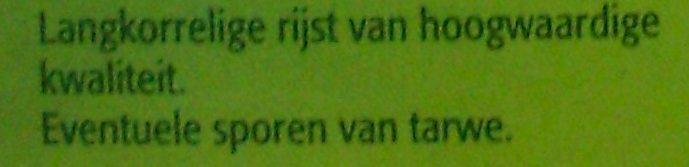 Riz long grain - 10 minutes - Ingrediënten - nl