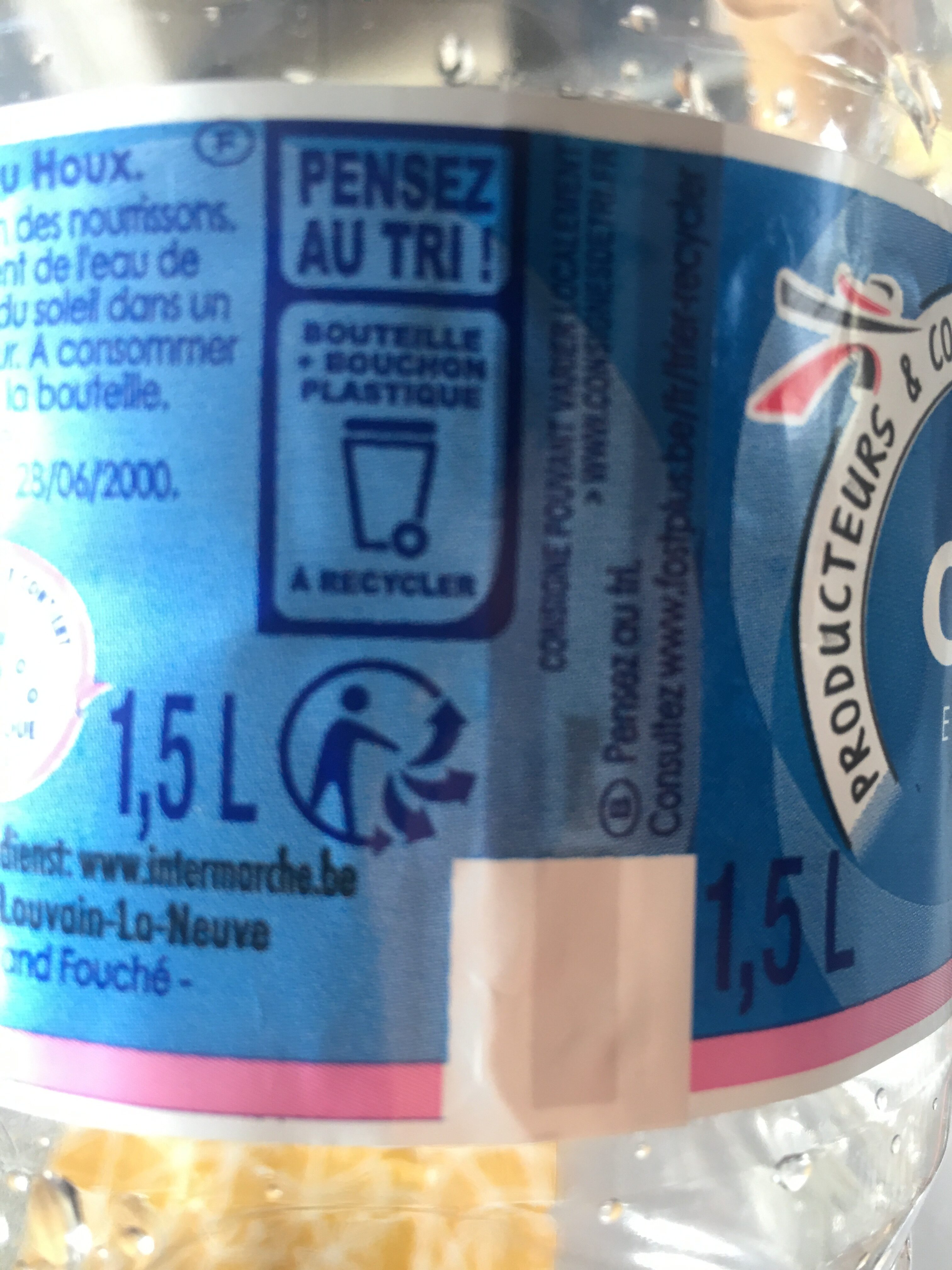 Ondine eau de source - Recycling instructions and/or packaging information - fr