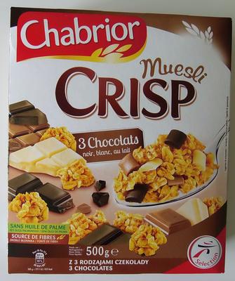 Muesli Crisp 3 chocolats - Produit - fr