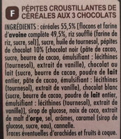 Muesli Crisp 3 chocolats - Ingredients