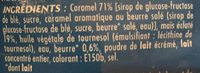 Pop corn caramel - Ingrédients - fr