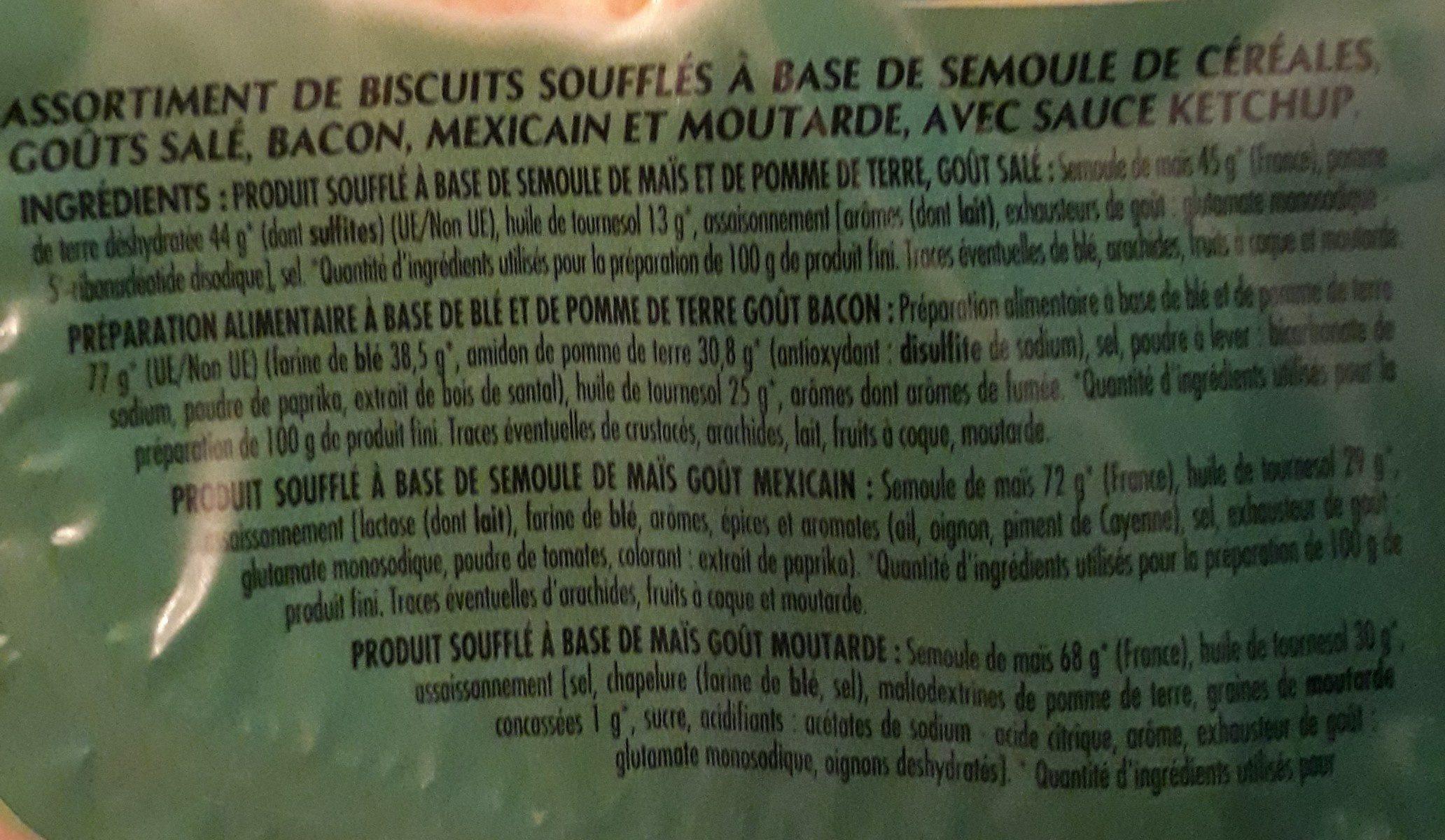 Cricfie's & sauce - Ingrédients - fr