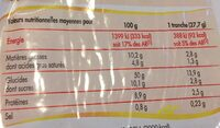 Brioche tranchée - Valori nutrizionali - fr
