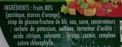 Macédoine de fruits confits - Ingredients - fr