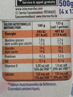 Onctueux Yt Bras Fraise - Voedingswaarden - fr