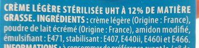 Crème légère 12% - Ingrédients - fr