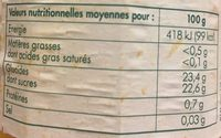 Paquito Compote d'Abricots - Nutrition facts - fr