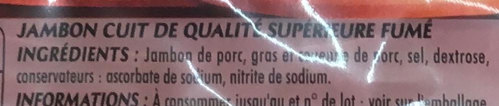 Mon Gourmand Fumé au Bois de Hêtre - Ingrédients - fr