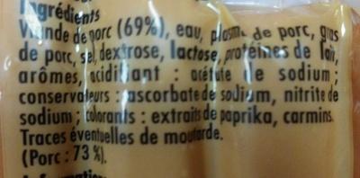 Knack  - Gourmand et croquant - pur porc - sachet spécial micro-ondes - Ingredients