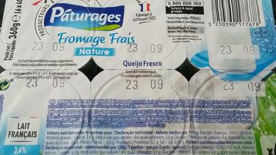 Fromages Frais - Voedingswaarden - fr