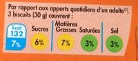 Biscuit soja figue - Voedingswaarden - fr