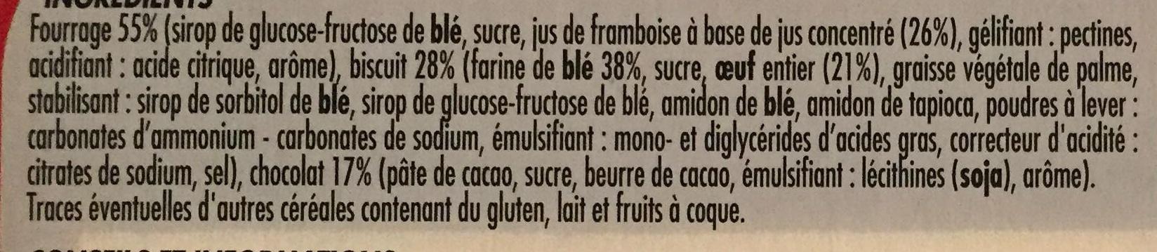 Génoises fourrées framboise - Ingredients
