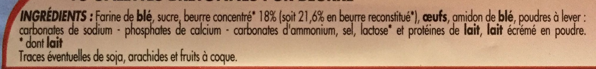 Galettes Bretonnes Pur Beurre - Ingrediënten