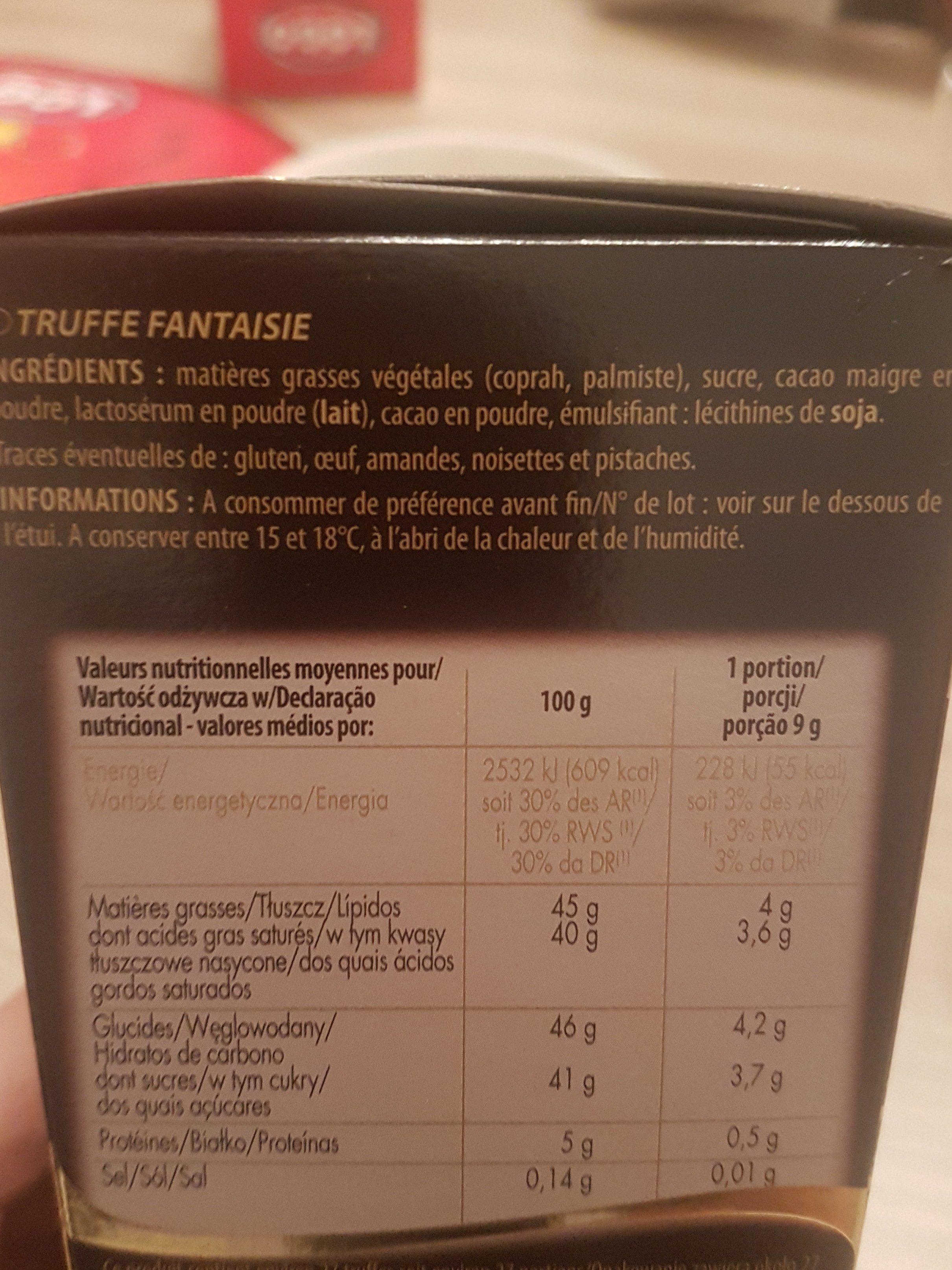 Ivoria Ball Truf Nature - Ingredients