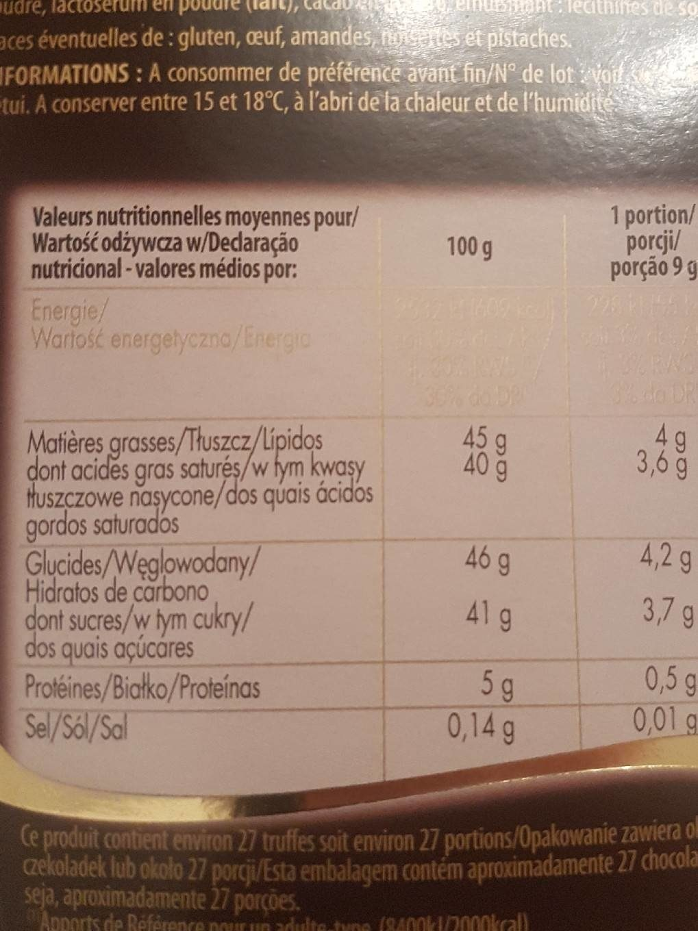 Ivoria Ball Truf Nature - Nutrition facts