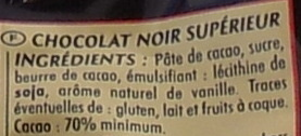 Les envoûtants mini chocolats noirs - Ingrediënten
