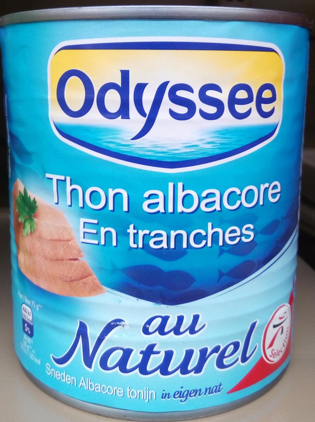 Thon albacore en tranches au naturel - Produit