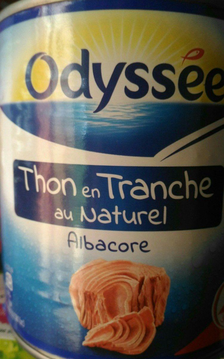 Thon albacore en tranches au naturel - Ingrédients