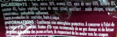 Mélange exotique - Ingredients - fr
