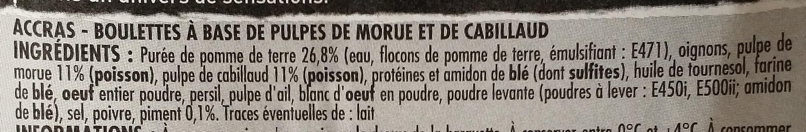 12 Accras à la Morue - Ingredients