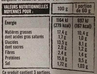 12 Accras à la Morue - Nutrition facts