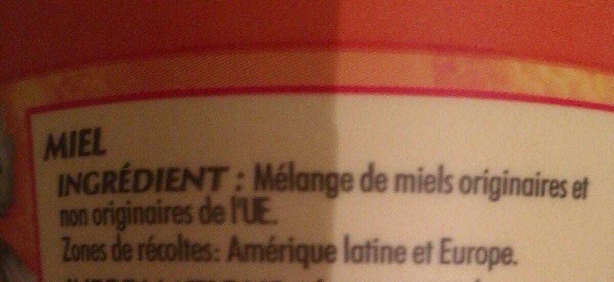 Miel crémeux - Ingrediënten - fr