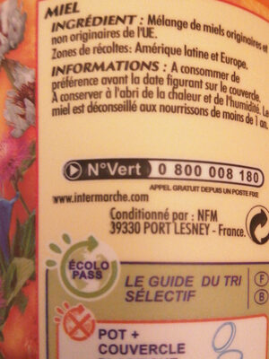 Miel crémeux - Voedingswaarden - fr