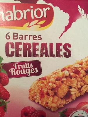 Barres céréales Fruits rouges - Produit - fr