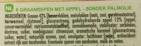 6 Barres céréalières à la pomme verte - Ingredients