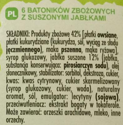 Barres de céréales - Składniki - pl